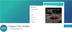 Elegant Posts Widget Settings